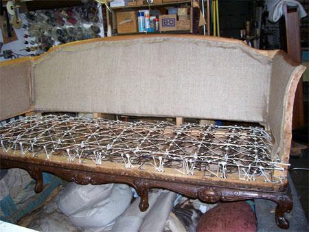 Как починить старый диван 4