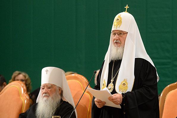 Патриарх Кирилл призывает строить в России нравственное государство