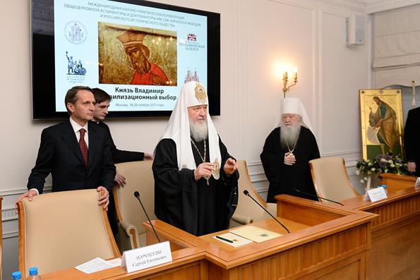 Патриарх Кирилл: история России неотделима от истории Церкви