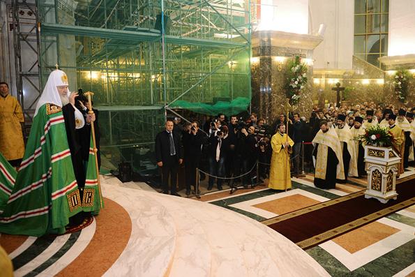 Патриарх Кирилл вознес молитвы о погибших в результате терактов