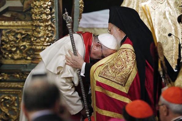 Франциск I – Константинопольскому патриарху: «Больше нет препятствий к евхаристическому общению»