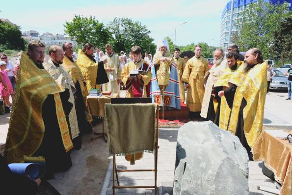 В Севастополе заложен храм в честь 70-летия Великой Победы