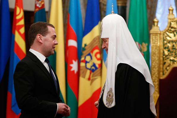 Патриарх поздравил Дмитрия Медведева с юбилеем