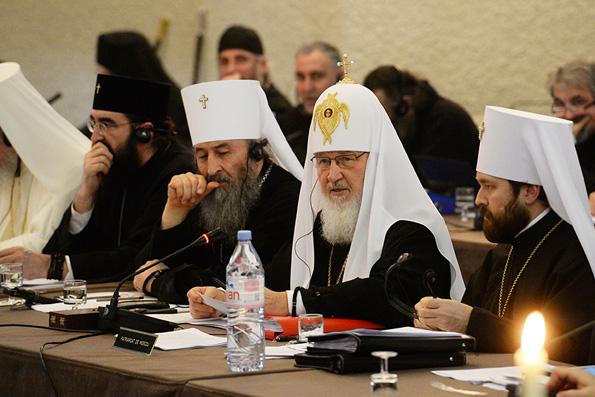 Выступление Патриарха Кирилла на Собрании Предстоятелей Поместных Православных Церквей в Шамбези