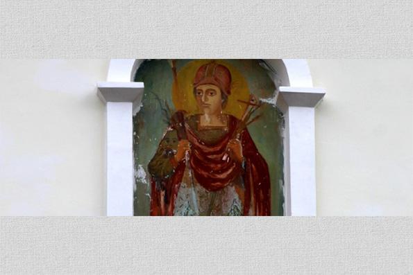 В монастыре Молдовы постоянно обновляется фреска с образом великомученика Димитрия