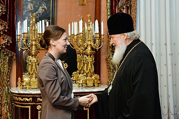 Патриарх Кирилл встретился с Уполномоченным при Президенте РФ по правам ребенка Анной Кузнецовой