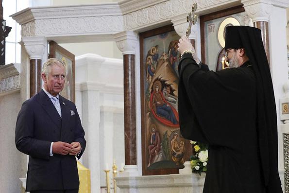 Принц Чарльз посетил молебен в русском соборе Лондона