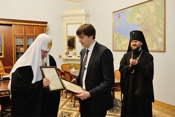 Глава Рособрнадзора вручил духовным академиям в Москве и Петербурге свидетельства о госаккредитации