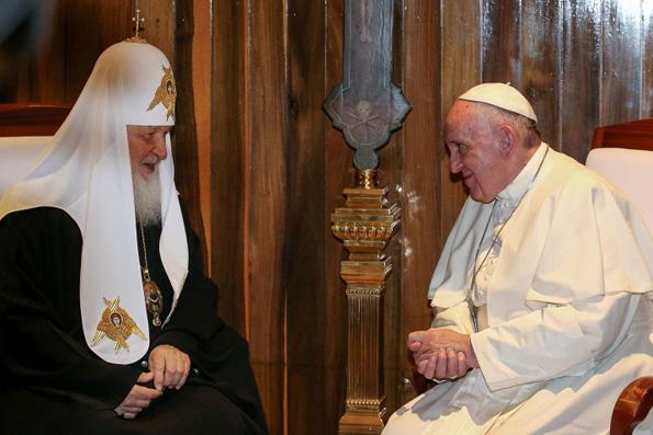 Встреча Патриарха Кирилла и Папы Римского прошла в Гаване за закрытыми дверями