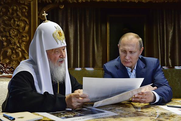 Патриарх Кирилл поблагодарил Владимира Путина за участие РФ в возрождении афонских обителей