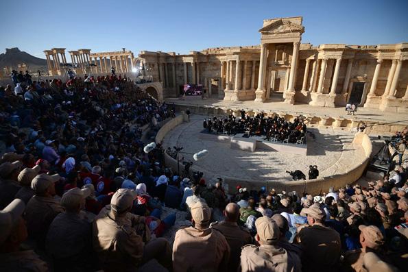 Валерий Гергиев с оркестром Мариинки дал концерт в древней Пальмире