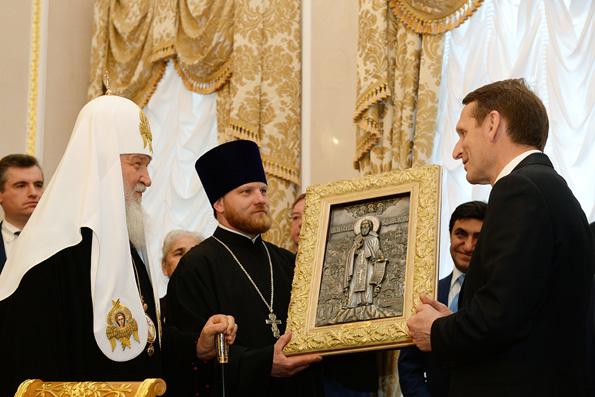 Патриарх Кирилл и Сергей Нарышкин открыли Дом Российского исторического общества