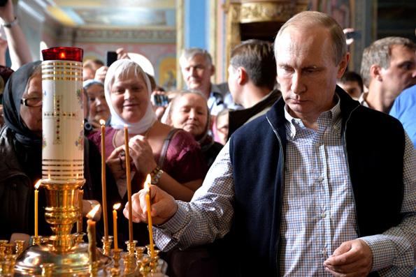 Владимир Путин причастился Святых Христовых Таин в Валаамском монастыре