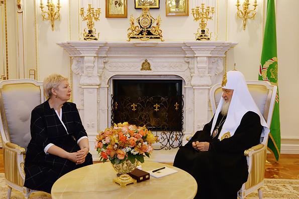 Ольга Васильева — Патриарху Кириллу: главная цель — воспитание в людях нравственности