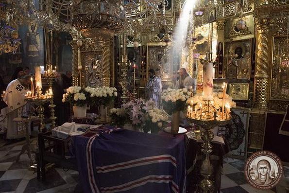 На Афоне состоялось погребение игумена Свято-Пантелеимонова монастыря схиархимандрита Иеремии (Алехина)