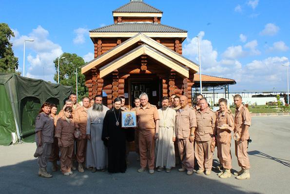 Часовню Георгия Победоносца освятили на российской базе в Сирии