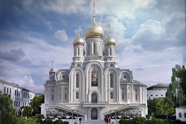 Завершается строительство храма новомучеников на Лубянке