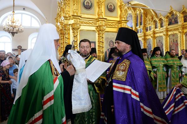 Патриарх Кирилл возглавил хиротонию архимандрита Илии (Казанцева) во епископа Бирского и Белорецкого в Соловецком монастыре